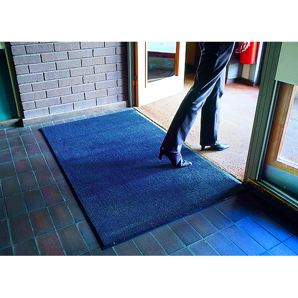 VFM Blue Economy Entrance Mat 1200x1800mm (Slip resistant with stain resistant backing) 312427