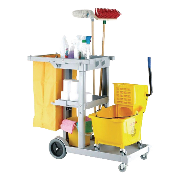 Image for Multipurpose Janitorial Trolley Grey 101272