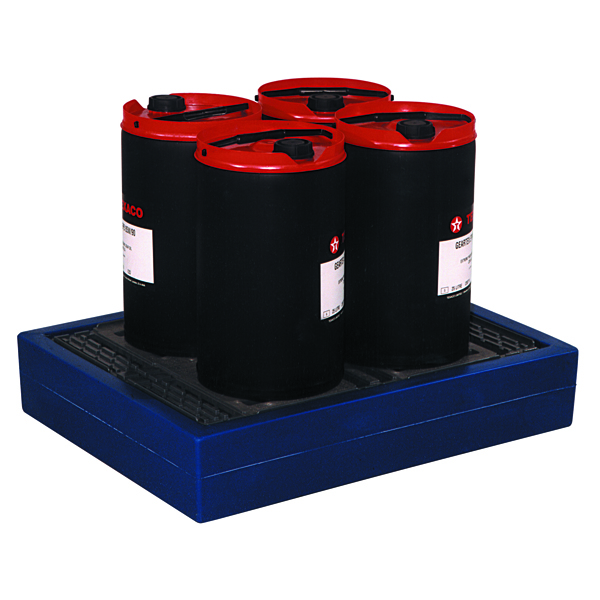 Can Tray Blue 4x25 Litre (Moulded Plastic Construction for 4 x 25 Litre Drums) 312730