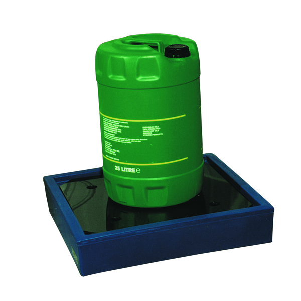 Can Tray Blue 1x25 Litre (Moulded Plastic Construction for 1 x 25 Litre Drum) 312731