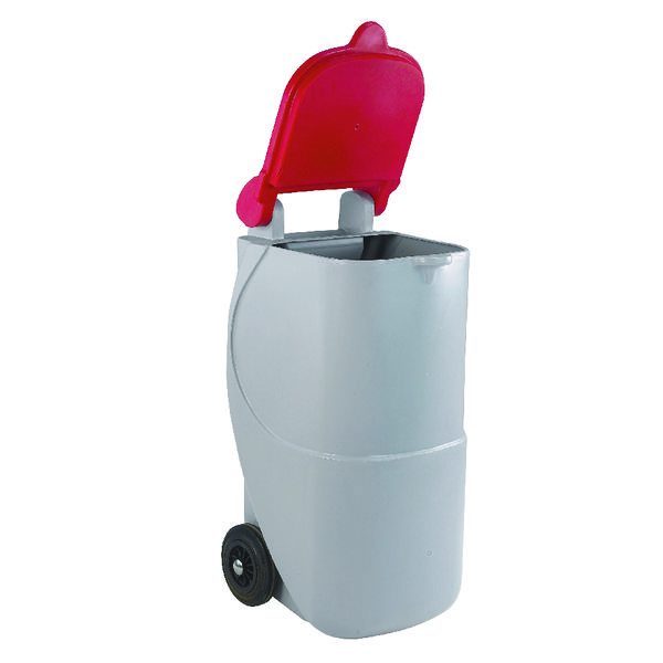 VFM Red Non-Locking Recycling Wheelie Bin 314633