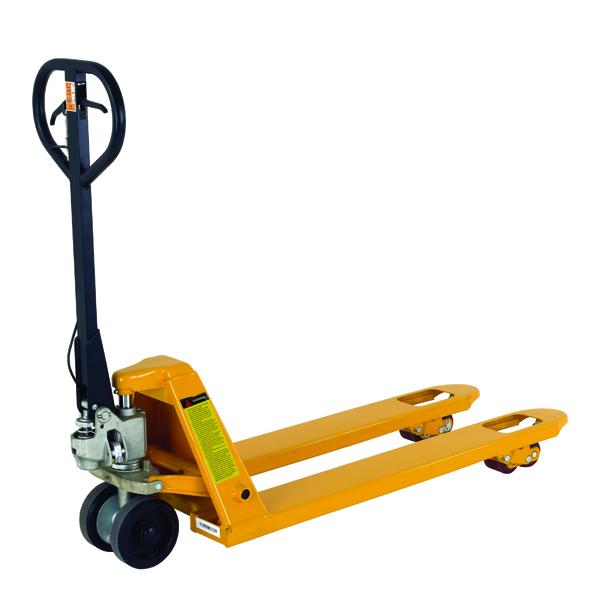 VFM Yellow Tandem Roller Braked Pallet Truck 315079