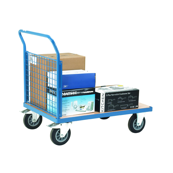 VFM Blue Premier Platform Truck Single Mesh 1200x800mm 315624