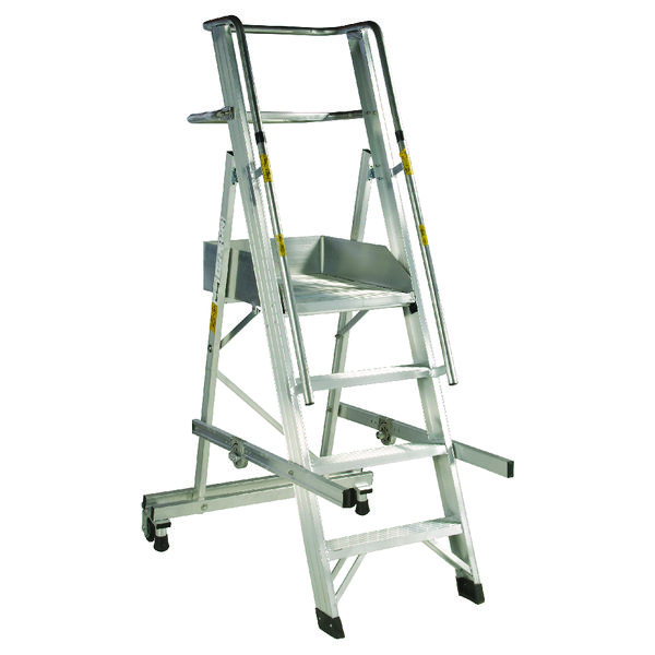 Aluminium 4 Tread Folding Mobile Step Ladder 316029