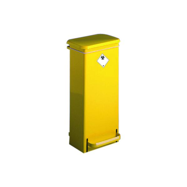 Fire Retardant Sack Holder 17 Litre Freestanding Yellow 316099