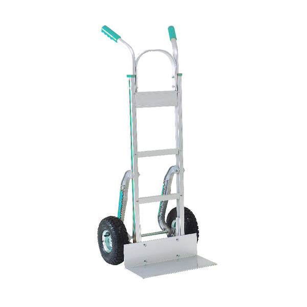 Stair climbing Hand Truck Low-Friction Skids Pneumatic Tyres Aluminium 317672