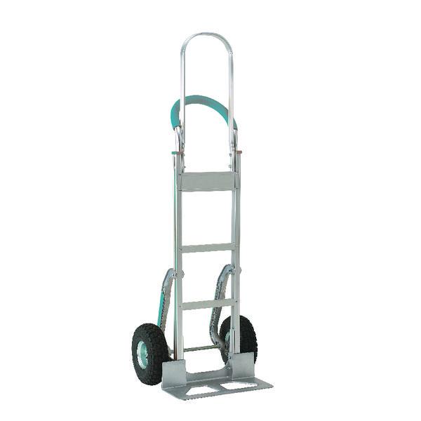 Stair climbing Hand Truck Tall Frame Low-Friction Skids Aluminium 317675