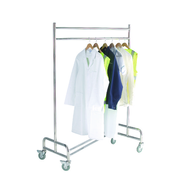 Image for Cloakroom Trolley Stainless Steel Chrome 317970