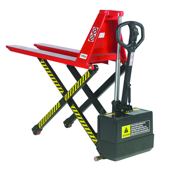 Pallet Truck Electric Lift 520x1140mm Red (Electric lift up to 800mm) 318030
