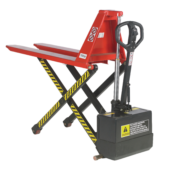 Pallet Truck Electric Lift 680x1140mm Red (Electric lift up to 800mm) 318031
