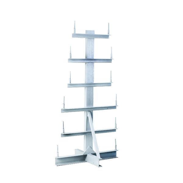 Image for Bar Storage Rack Double Side 350kg/Arm Grey 318945