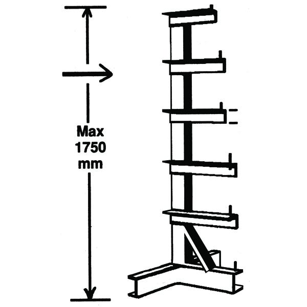 Image for Bar Storage Rack Single Side 350kg/Arm Grey 318946