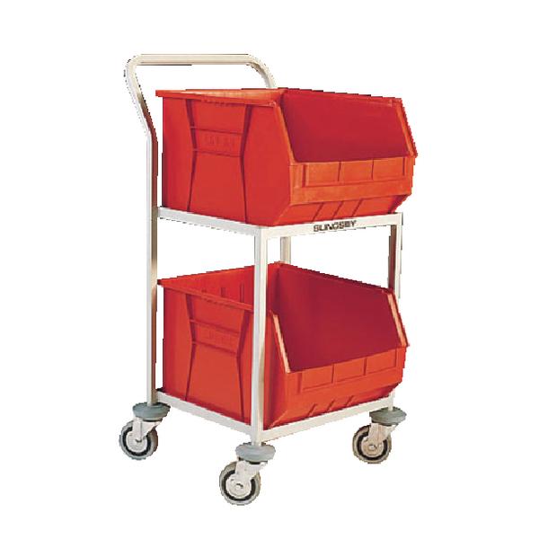 Red Mobile Storage Trolley c/w 2 Bins 321292