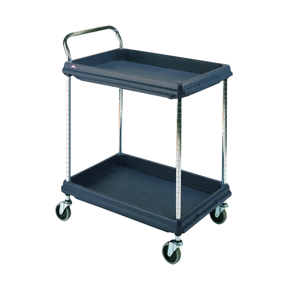 Image for 2 Tier Black 832x546x1041mm Deep Ledge Trolley 322441