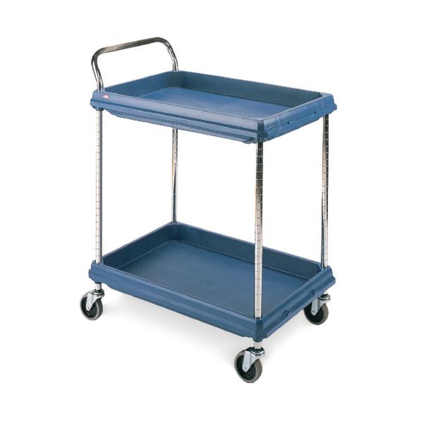 2 Tier Blue H1041xW832xD546mm Deep Ledge Trolley 322442