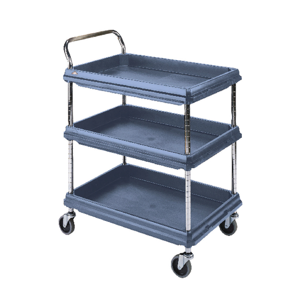 3 Tier Blue H1041xW984xD689mm Deep Ledge Trolley 322451