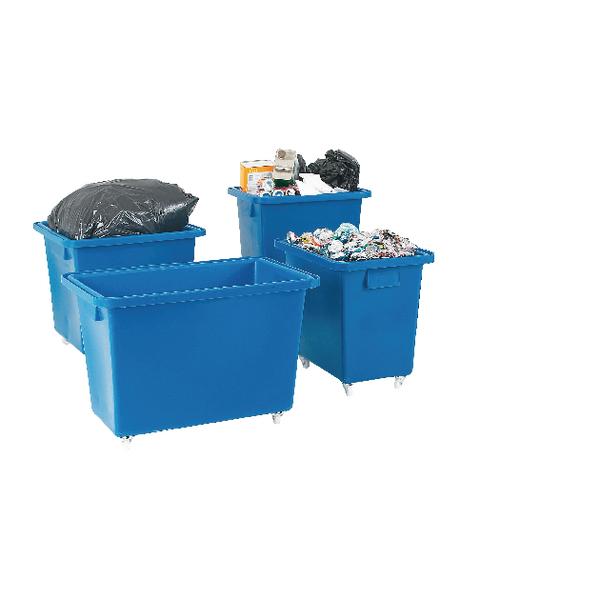 Bottle Skip 930X340X550mm 4X50mm Swivel Blue 328239