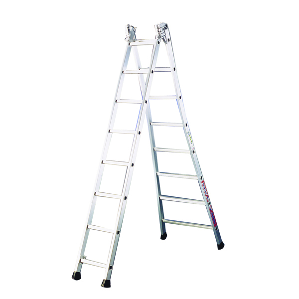 Transformable Aluminium Ladder 2x12 Rungs (150kg capacity) 328811