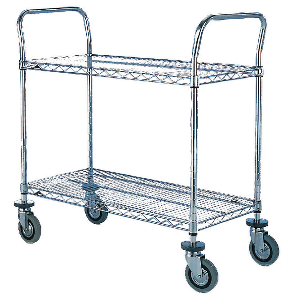 2 Tier Chrome Trolley 610x914mm 329023
