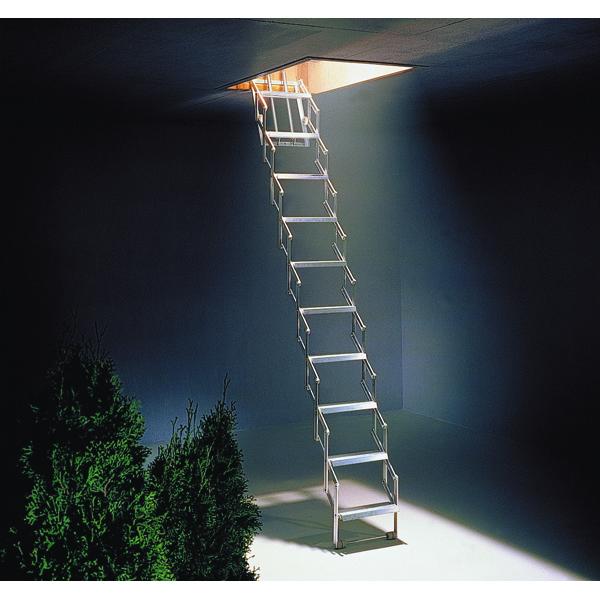 Concertina Ladder Aluminium (For ceiling height between 2520 - 2730mm) 329222