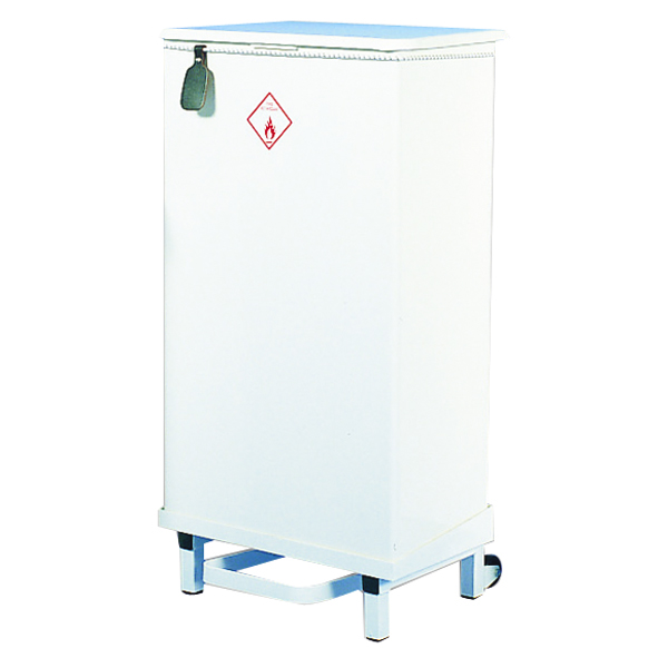 Fire Retardant Sack Holder 64 Litre White Semi-Mobile 330328