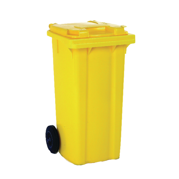 Refuse Container 80 Litre 2 Wheel Yellow 331275