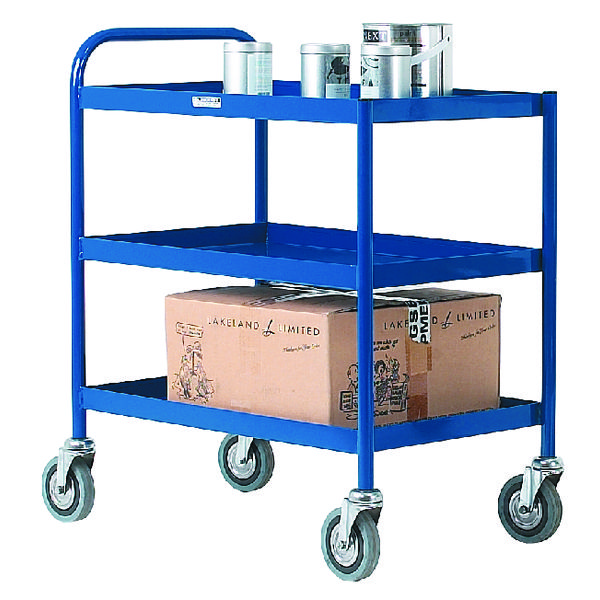 3 Tier Blue General Purpose Trolley 331493