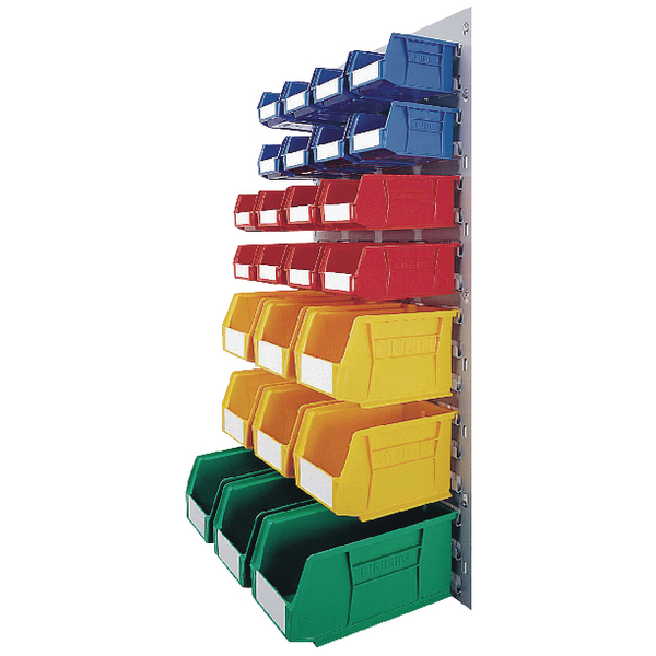 VFM Coloured Wall Mounted Bin Storage Unit 331569