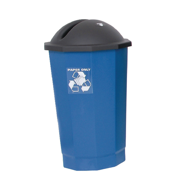 VFM Black /Blue Recycling Paper Bank