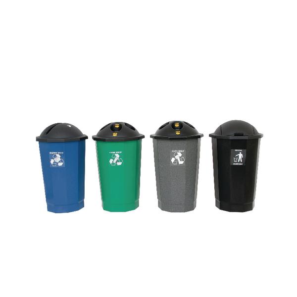 Plastic Bottle Bank Black /Granite 347578