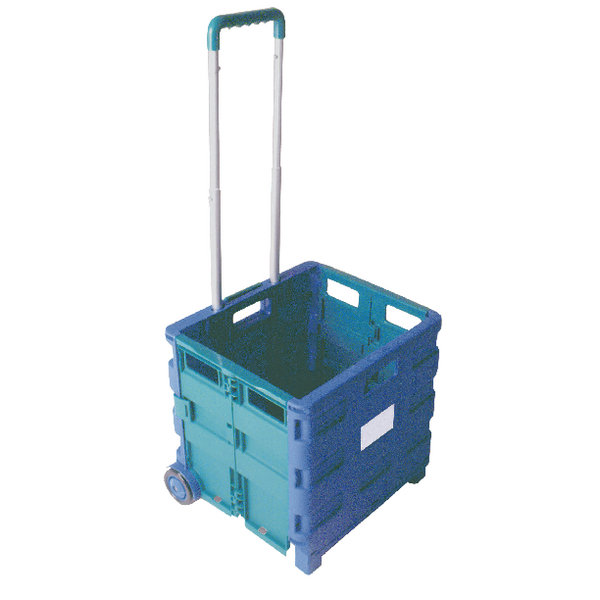 Image for Folding Container Trolley Blue /Green 356684
