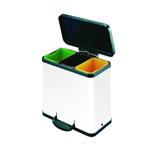 Trento Oko 3X11 Recycling Bin White 357453