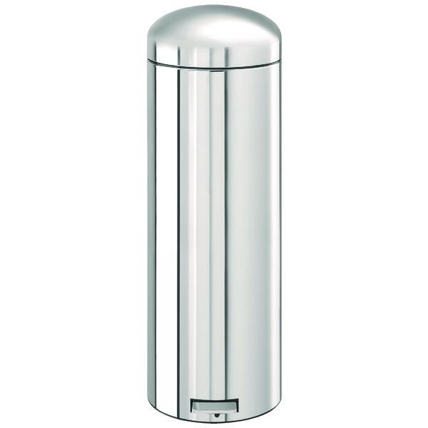 Retro Bin 30L Steel Silver 358492