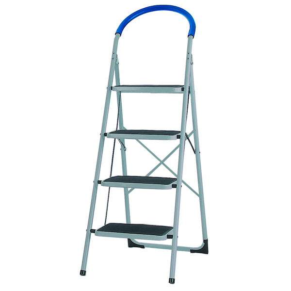 4 Tread White Step Ladder (100kg Capacity, Height to top step: 950mm) 359295