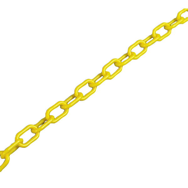 Plastic 6mm Yellow Chain (25m Length, For use with chain barrier system) 360072