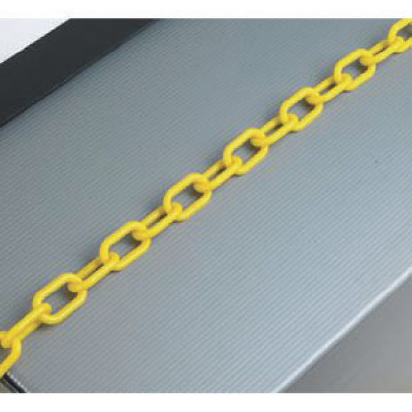 Plastic 8mm Yellow Chain (25m Length, For use with chain barrier system) 360076