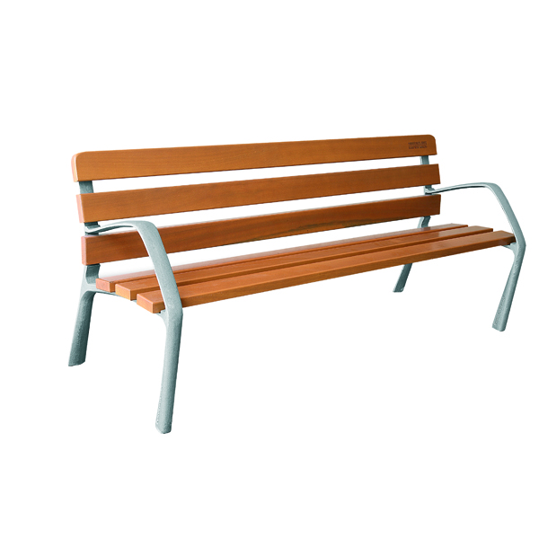 Wooden Bench With Cast Iron Legs 370109