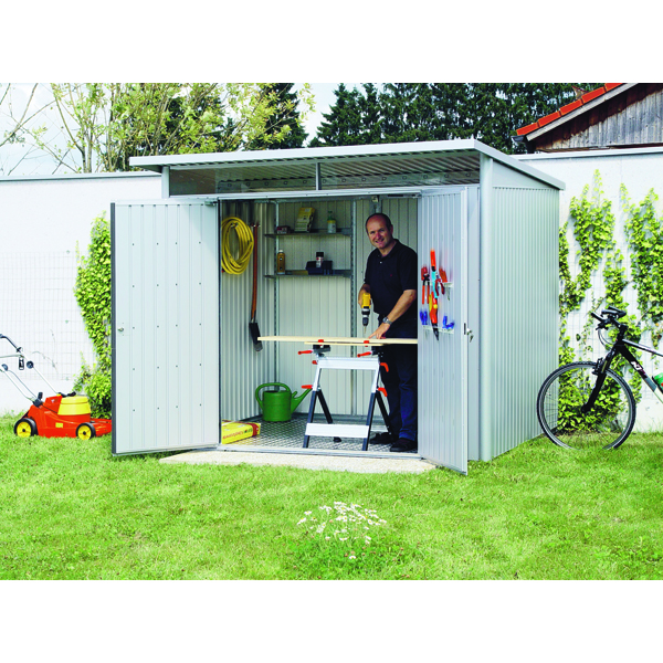 Image for VFM Large Metallic Garden Storage Shed