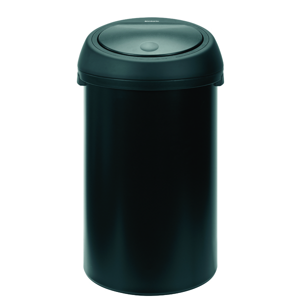 Touch Top Waste Bin 50 Litre Black 374038