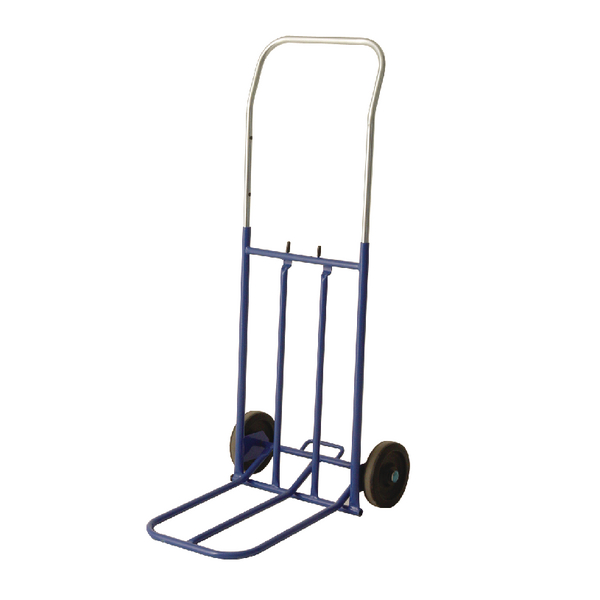 General Duty Lightweight Hand Truck Blue With Telescopic Handle 374670