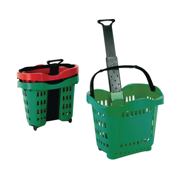 Giant Shopping Basket/Trolley Green .