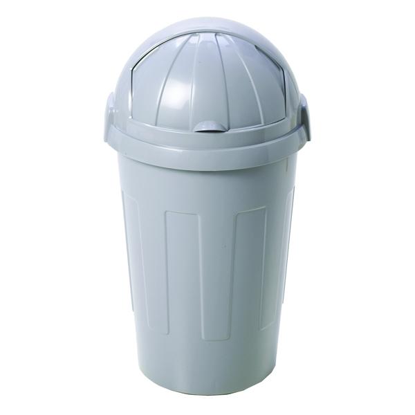 Casa Bullet Silver Roll Top Plastic Bin - 374963