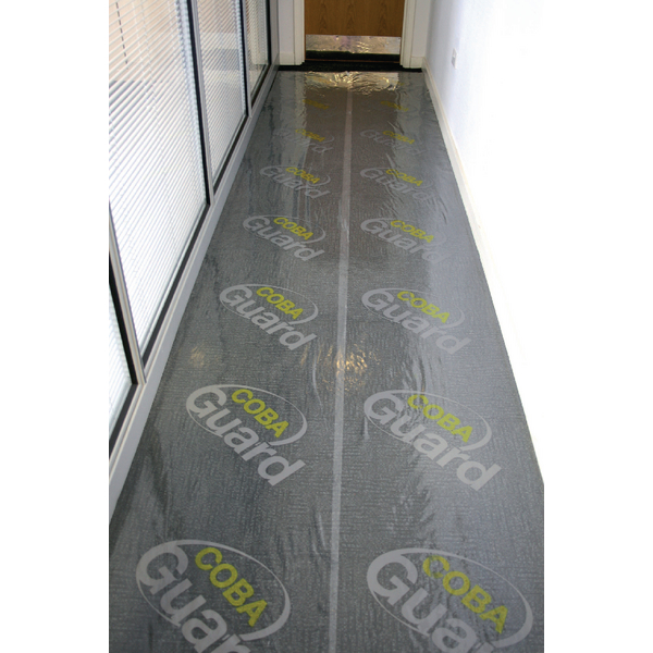 Cobaguard Carpet Protection Film 600mmx25m (Self adhesive, removes without leaving damage) 374996