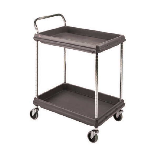 Image for 2 Tier Black W832xD546xH1041mm Deep Ledge Trolley 375053