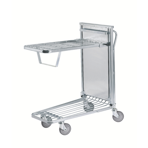 In Store Trolley Spring Tray Metallic Grey/Blue 375425