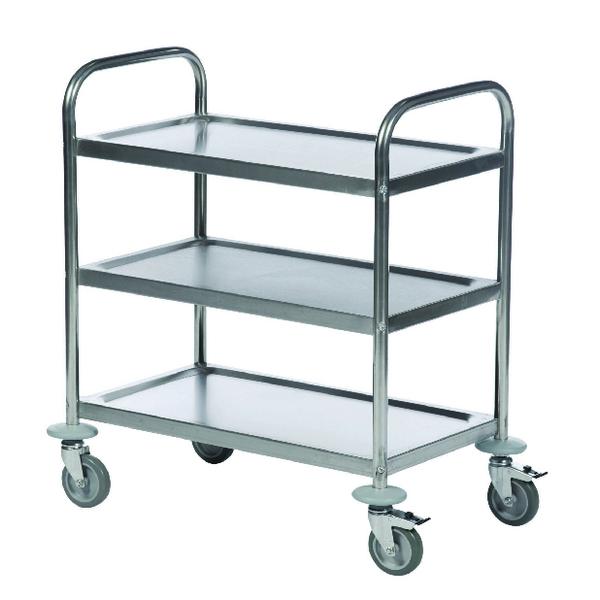 Economy Stainless Steel 3-Shelf Trolley 375609
