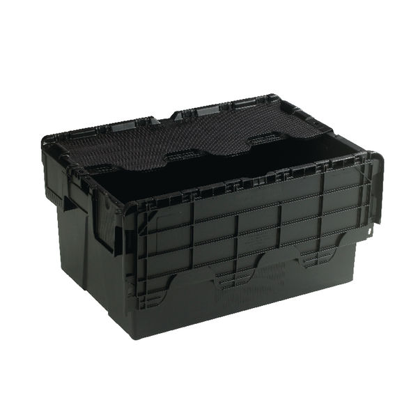 Image for Attached Lid Container 54L Black 375814
