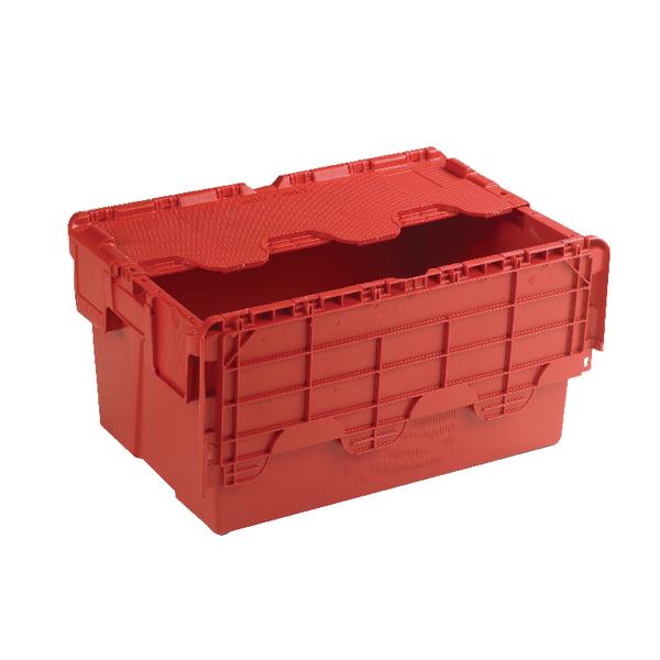 Image for Attached Lid Container 54L Red 375816