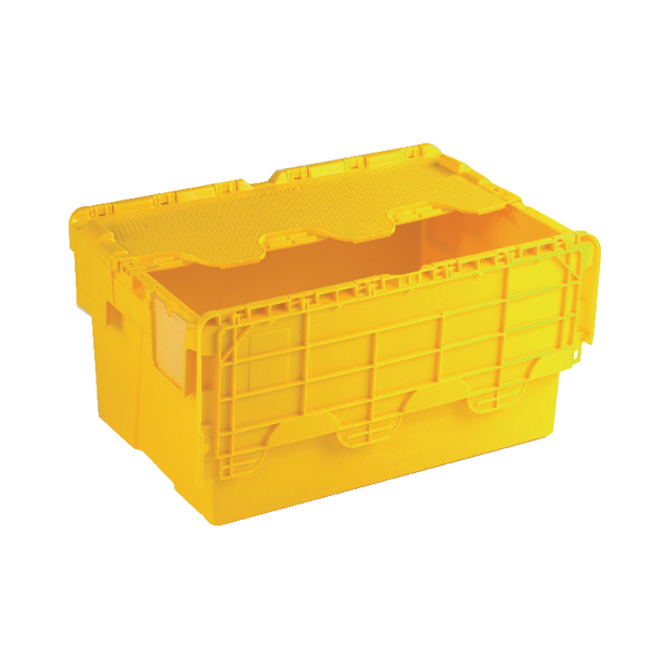Image for Attached Lid Container 54L Yellow 375817
