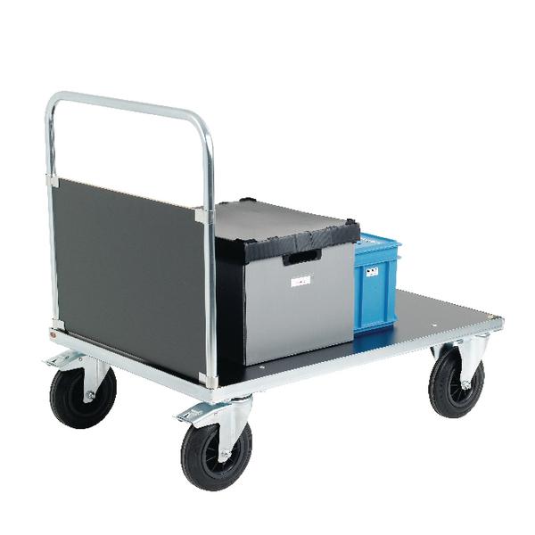 VFM Silver Budget Platform Truck Single End 1000x700mm 376418